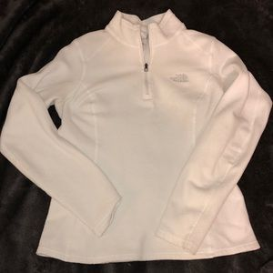 The North Face white zip up